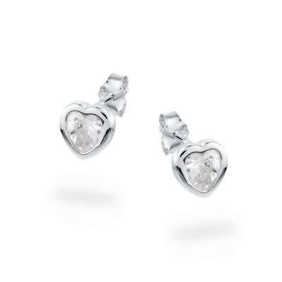 Tiny Hearts srebrne nausnice Silver for you
