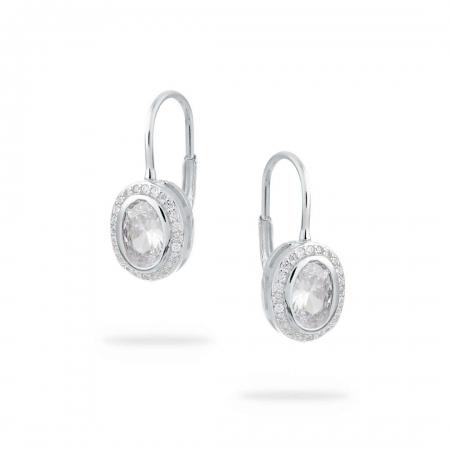 TWINKLE OVALS srebrne nausnice Silver for you