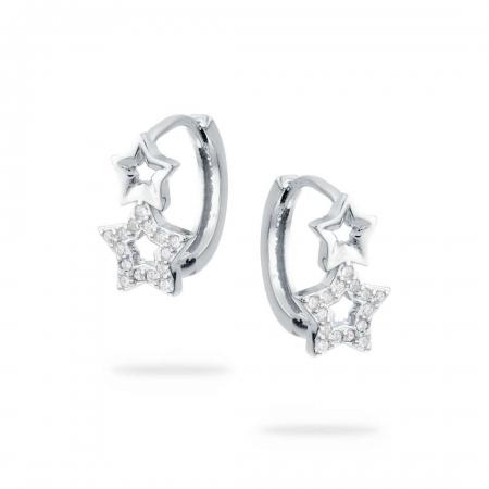 Twinkle Stars srebrne nausnice silver for you