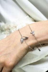 Angel love wings srebrna narukvica silver for you