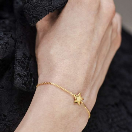 Golden star srebrna narukvica s pozlatom silver for you