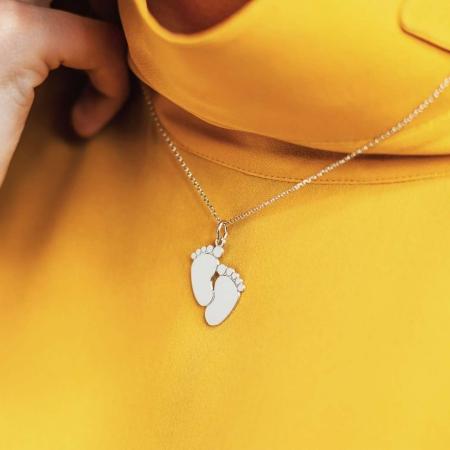 Happy feet srebrna ogrlica silver for you