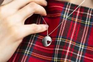 Round Heart Small srebrna ogrlica Silver for you