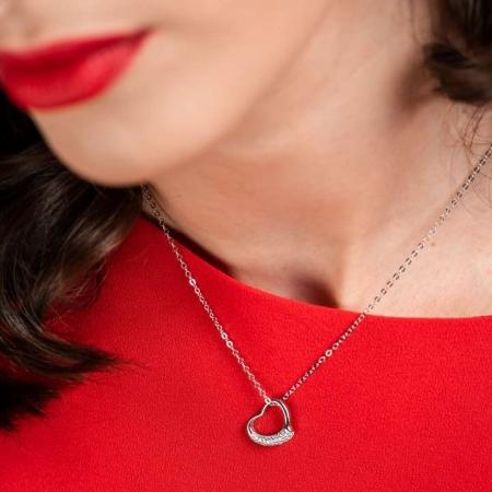 Your Heart srebrna ogrlica Silver for you