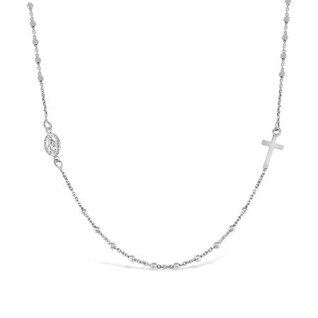 GRACE ROSARI srebrna ogrlica