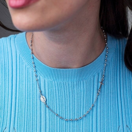 RELIEF-ROSARI-srebrna-ogrlica