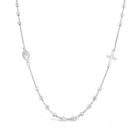 RELIEF ROSARI srebrna ogrlica