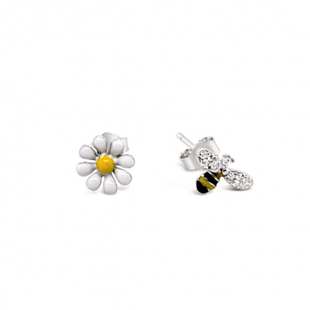 Bee-and-The-Flower-srebrne-nausnice-Silver-for-you