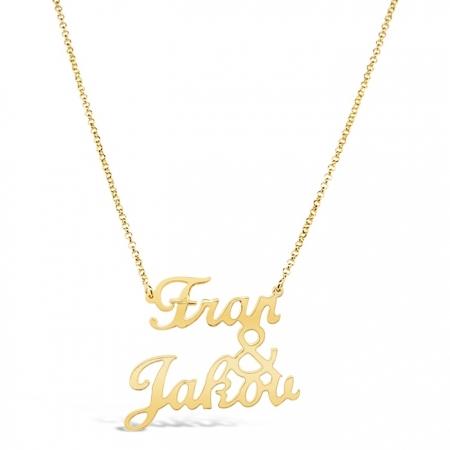 NAME&NAME UNDER srebrna ogrlica s pozlatom