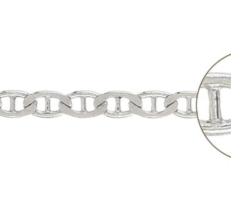 ELEGANT SMALLER srebrni lančić - karike