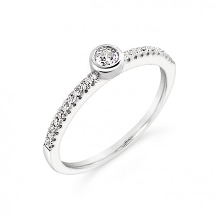 ELENA srebrni zaručnički prsten
