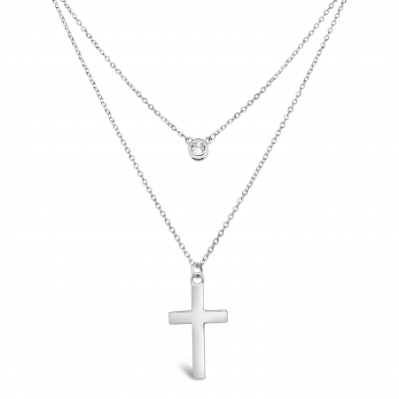 CROSS-POINT-VERTICAL-srebrna-ogrlica-Silver-for-you