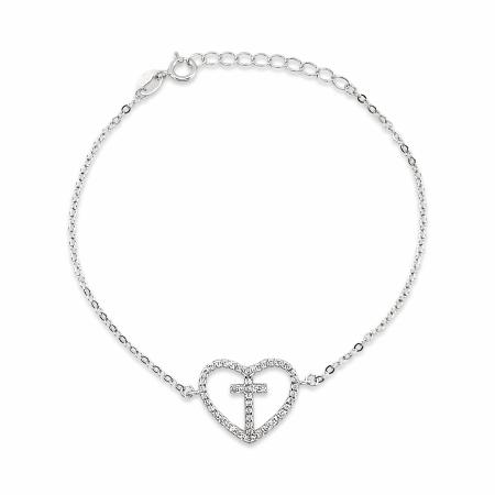 FAITHFUL HEART srebrna narukvica-Silver for you