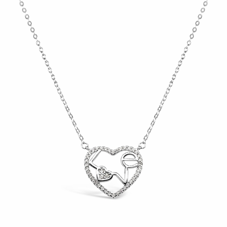 HEART FULL OF LOVE srebrna ogrlica