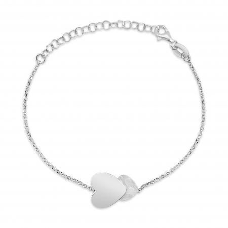 HELIA HEARTS srebrna narukvica-Silver for you