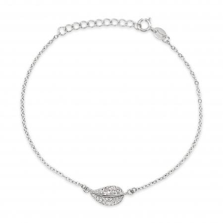 LEAF srebrna narukvica-Silver for you