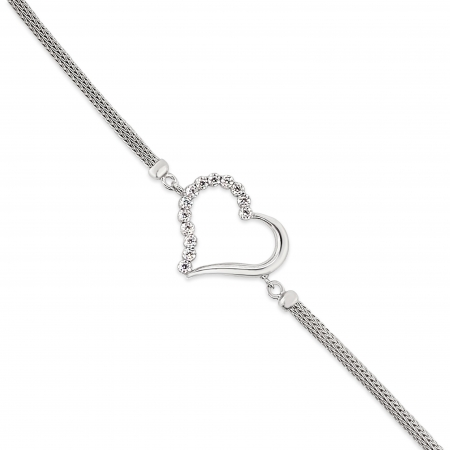 SIMPLE-HEART-srebrna-narukvica-Silver-for-you