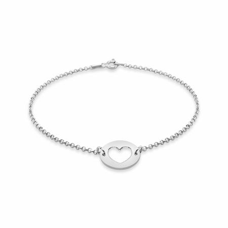 PURE HEART srebrna narukvica_Silver for you