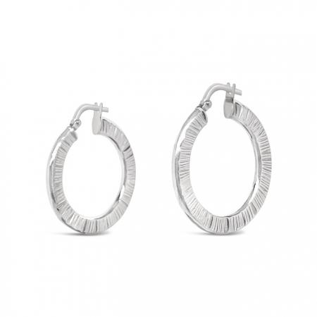 FUNK HOOPS srebrne naušnice Silver for you