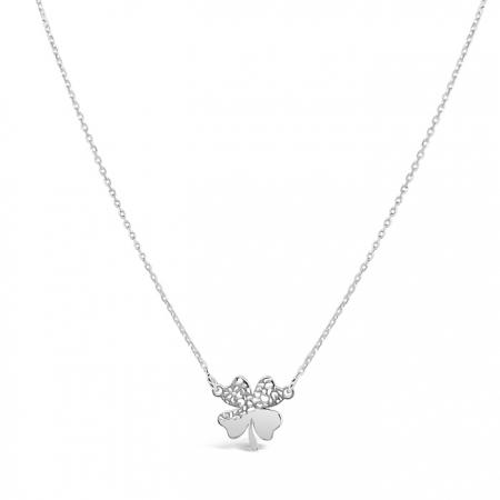 SWEET CLOVER srebrna ogrlica Silver for you