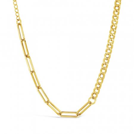 Combined-Chain-srebrna-ogrlica-s-pozlatom_Silver-for-you